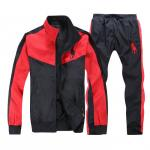 ralph lauren complet survetement with pantalon v-rouge